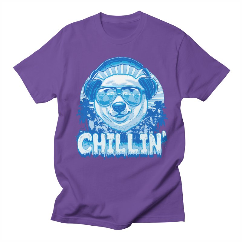 Chillin' Like a Polar Bear Men's Regular T-Shirt by Mudge Studios