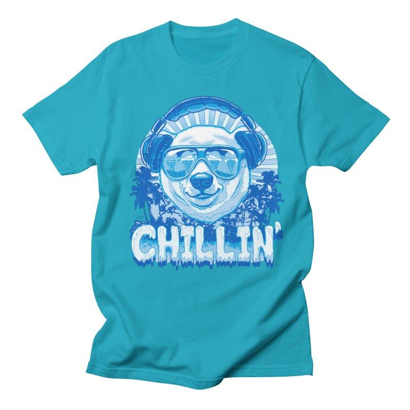 Chillin' Like a Polar Bear Men's Regular T-Shirt by Mudge Studios