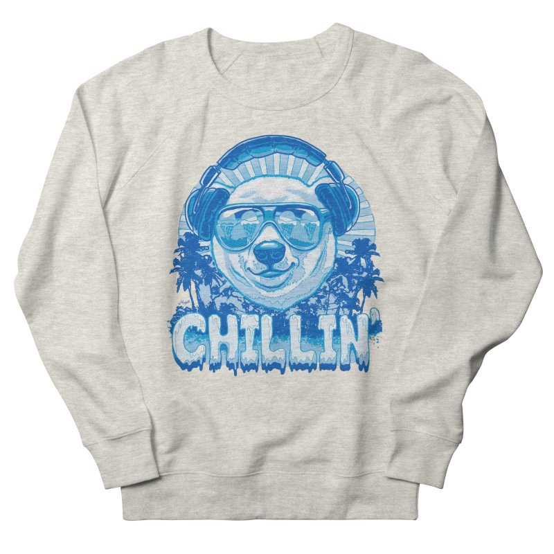 Chillin' Like a Polar Bear Men's French Terry Sweatshirt by Mudge Studios