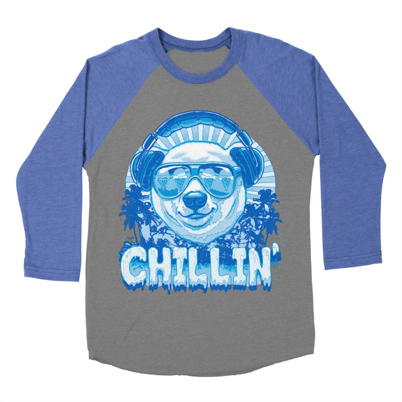 Chillin' Like a Polar Bear Men's Baseball Triblend Longsleeve T-Shirt by Mudge Studios