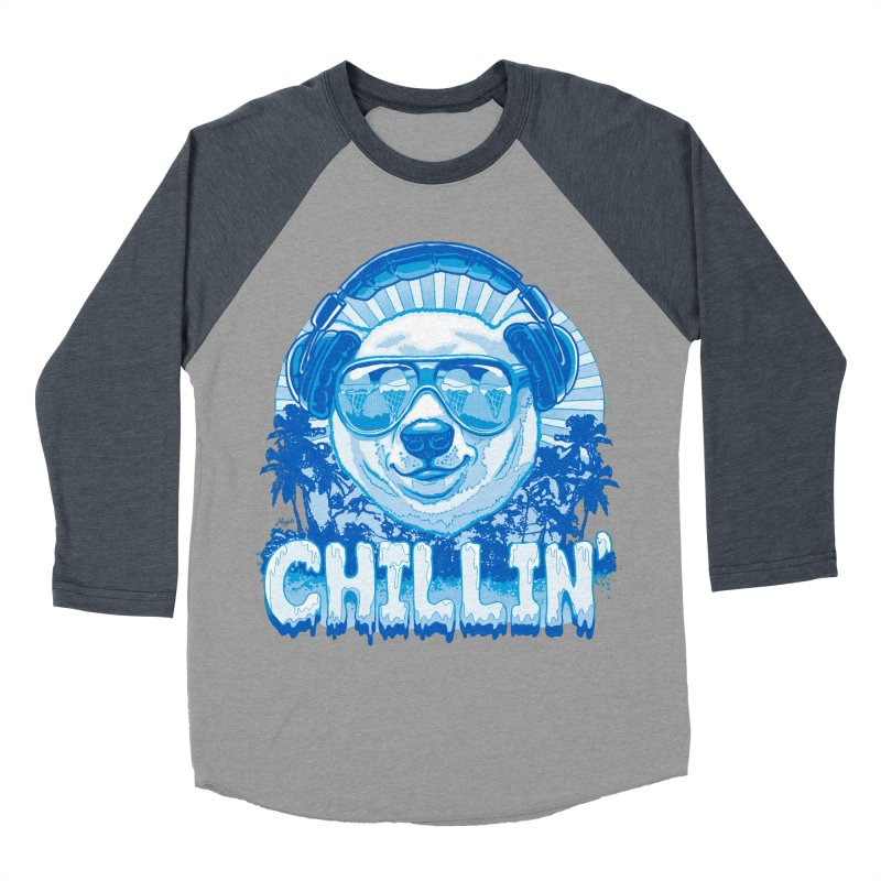 Chillin' Like a Polar Bear Men's Baseball Triblend T-Shirt by Mudge Studios