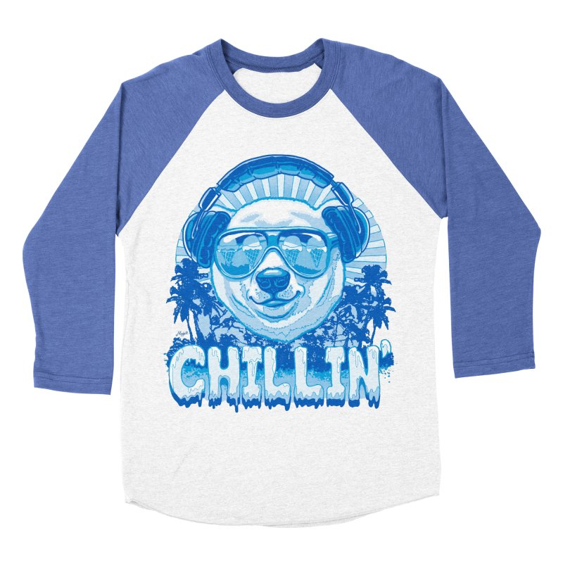 Chillin' Like a Polar Bear Men's Baseball Triblend T-Shirt by Mudge Studios