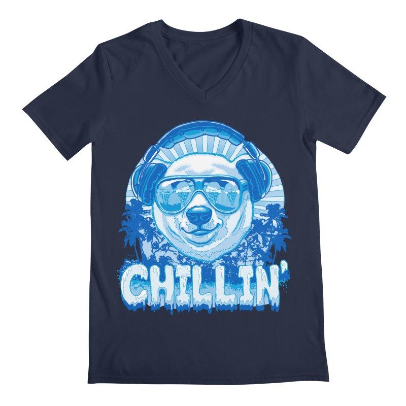 Chillin' Like a Polar Bear Men's Regular V-Neck by Mudge Studios