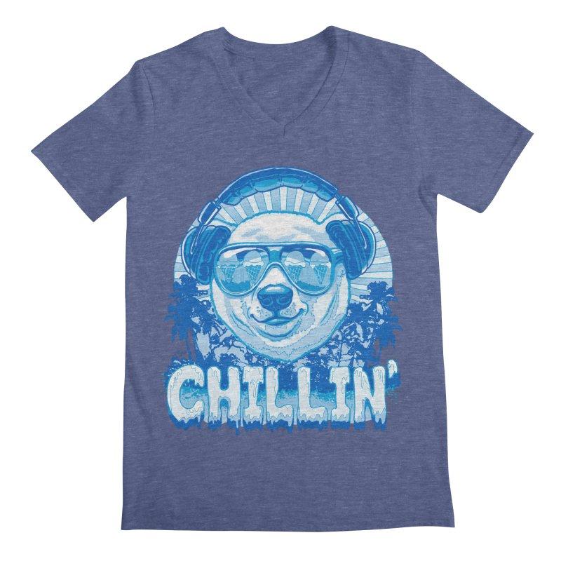 Chillin' Like a Polar Bear Men's V-Neck by Mudge Studios