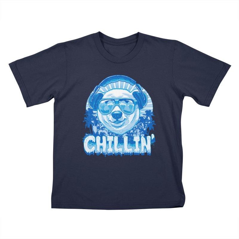 Chillin' Like a Polar Bear Kids T-shirt by Mudge Studios