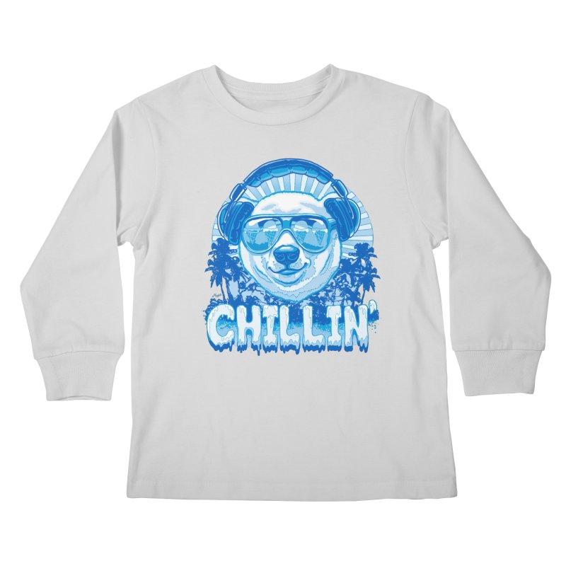 Chillin' Like a Polar Bear Kids Longsleeve T-Shirt by Mudge Studios