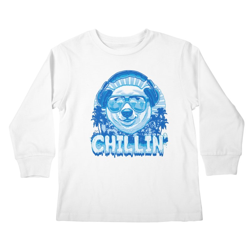 Chillin' Like a Polar Bear Kids Longsleeve T-Shirt by Mudge Studios