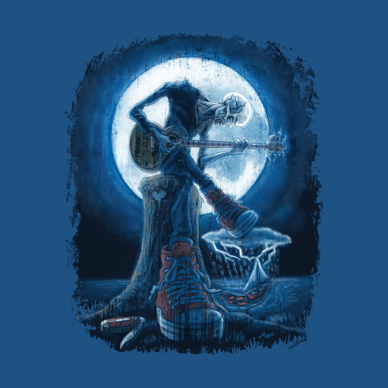 Full Moon Guitarist Blues by Mudge Studios