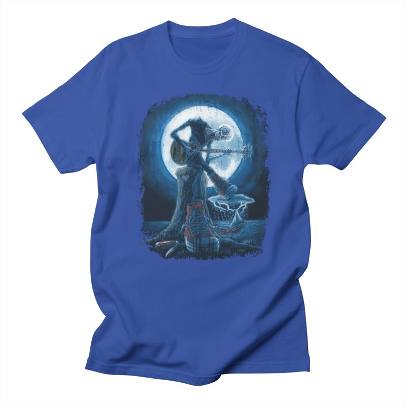 Full Moon Guitarist Blues Men's T-Shirt by Mudge Studios