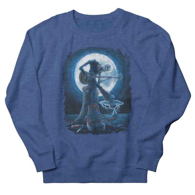 Full Moon Guitarist Blues Women's French Terry Sweatshirt by Mudge Studios