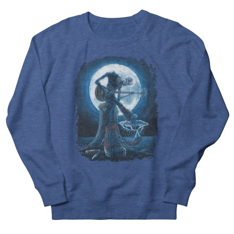 Full Moon Guitarist Blues Men's Sweatshirt by Mudge Studios