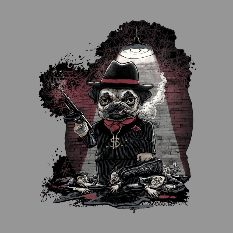 Pugnacious Gangster Pug Men's Sweatshirt by Mudge Studios