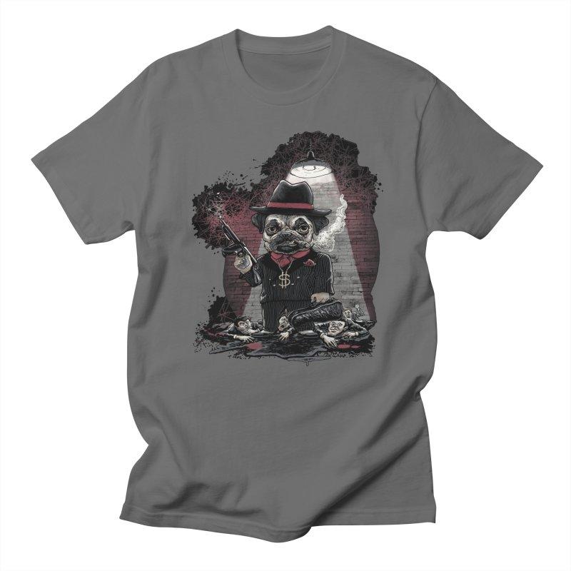 Pugnacious Gangster Pug Men's T-Shirt by Mudge Studios