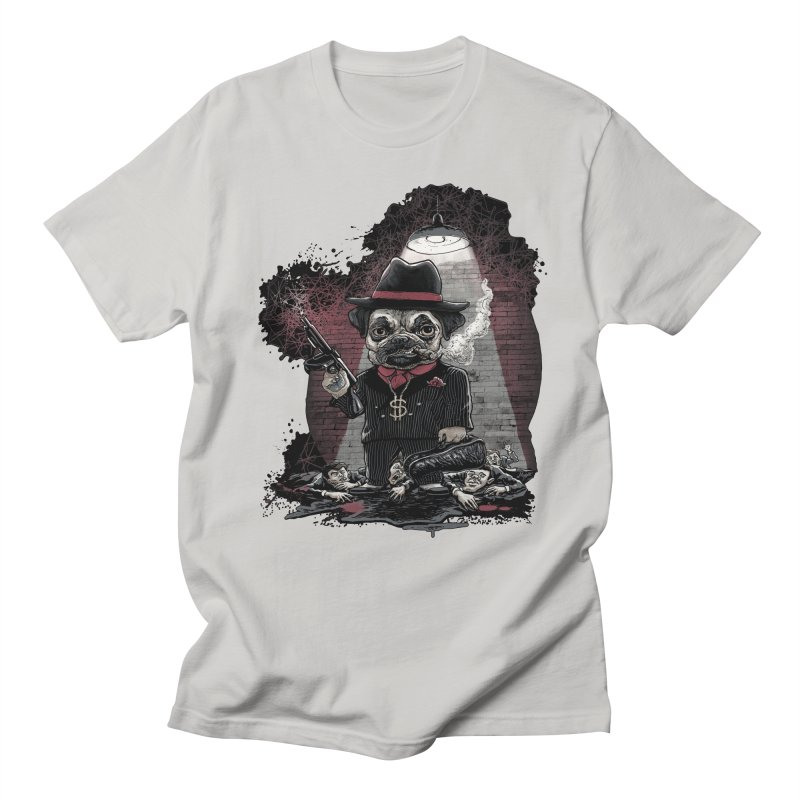 Pugnacious Gangster Pug Men's Regular T-Shirt by Mudge Studios