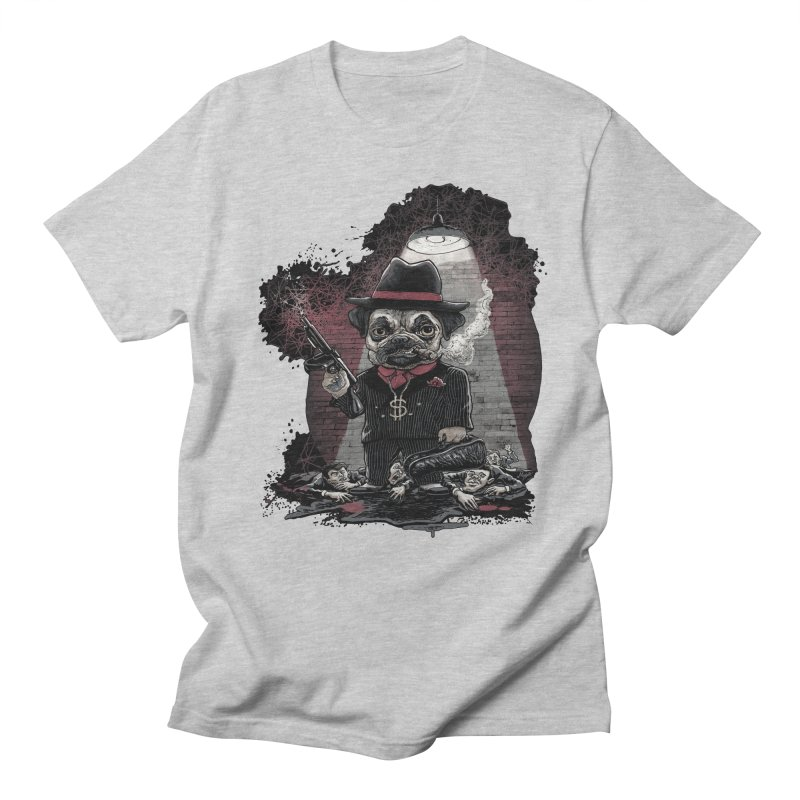 Pugnacious Gangster Pug Men's Regular T-Shirt by Mudge Studios