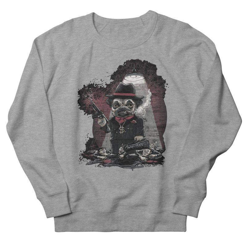 Pugnacious Gangster Pug Women's French Terry Sweatshirt by Mudge Studios