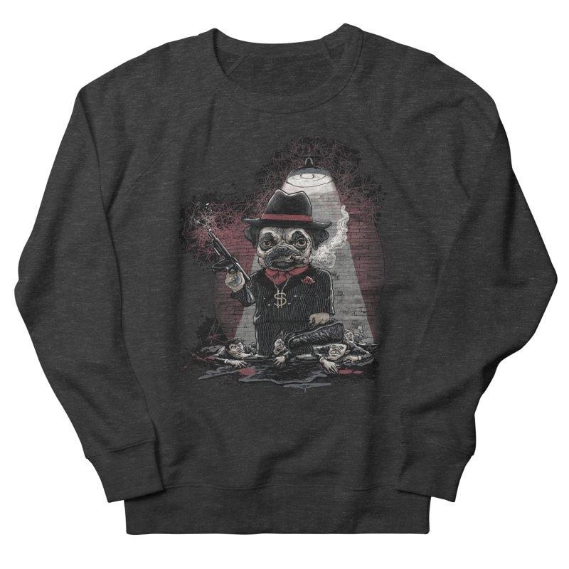 Pugnacious Gangster Pug Men's French Terry Sweatshirt by Mudge Studios
