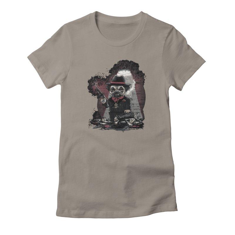 Pugnacious Gangster Pug Women's T-Shirt by Mudge Studios
