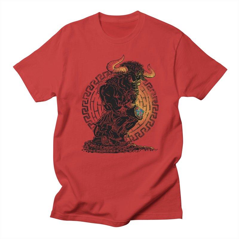 Minotaur Cube Men's T-Shirt by Mudge Studios