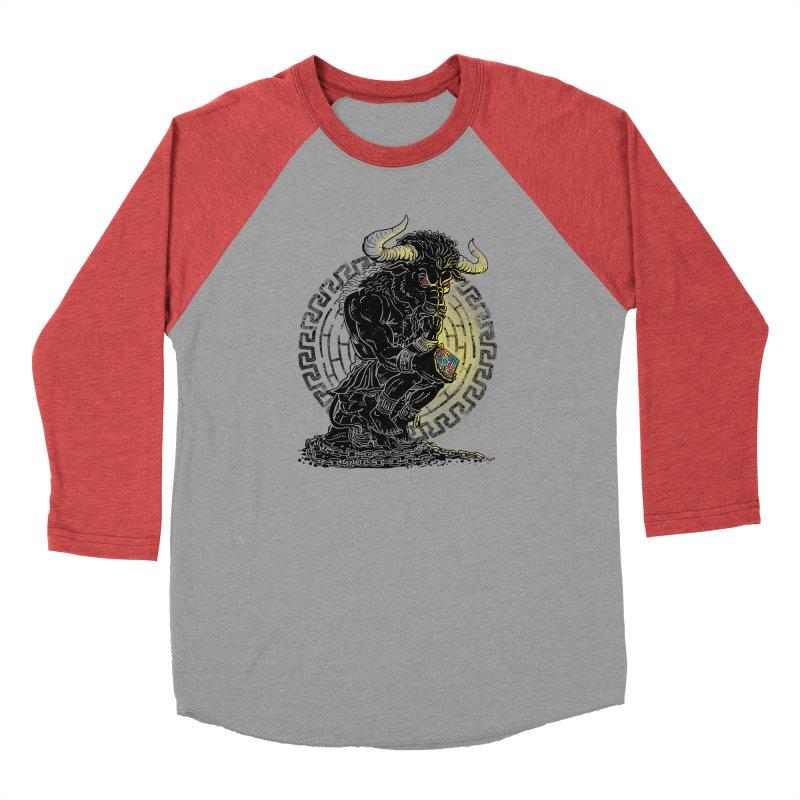 Minotaur Cube Men's Baseball Triblend Longsleeve T-Shirt by Mudge Studios