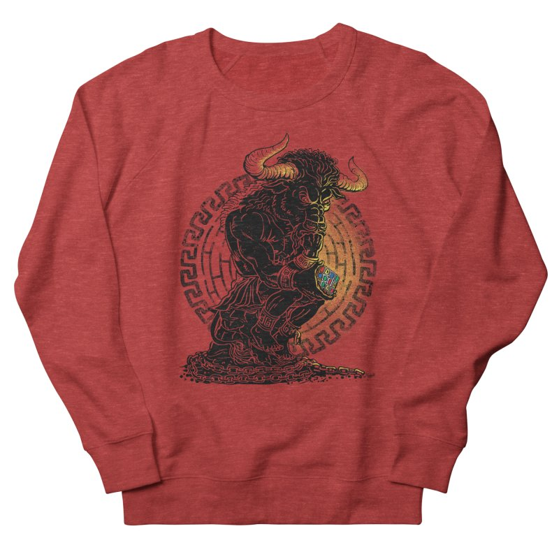 Minotaur Cube Women's Sweatshirt by Mudge Studios