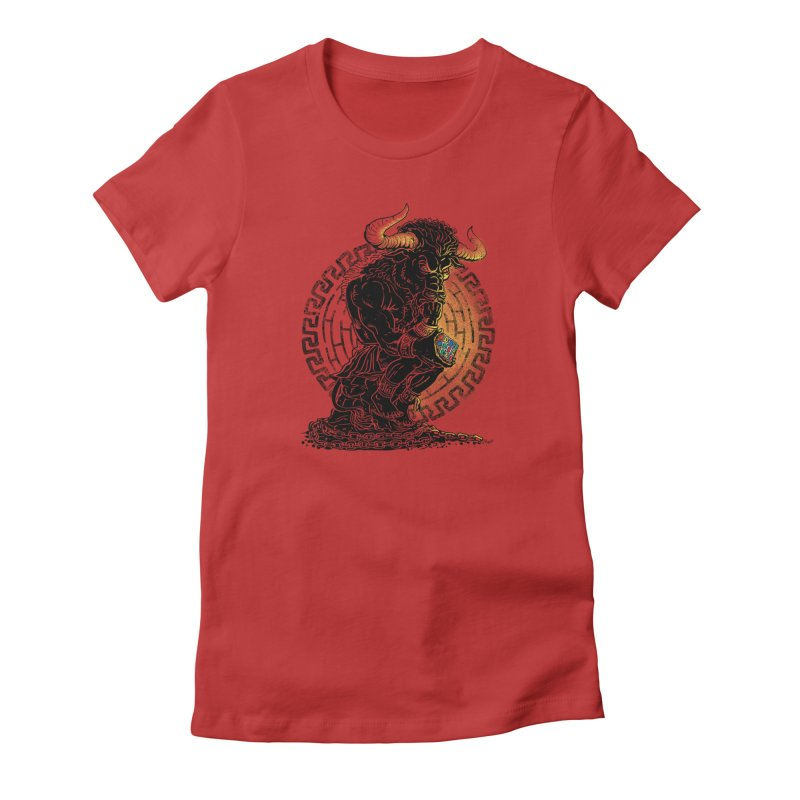 Minotaur Cube Women's T-Shirt by Mudge Studios