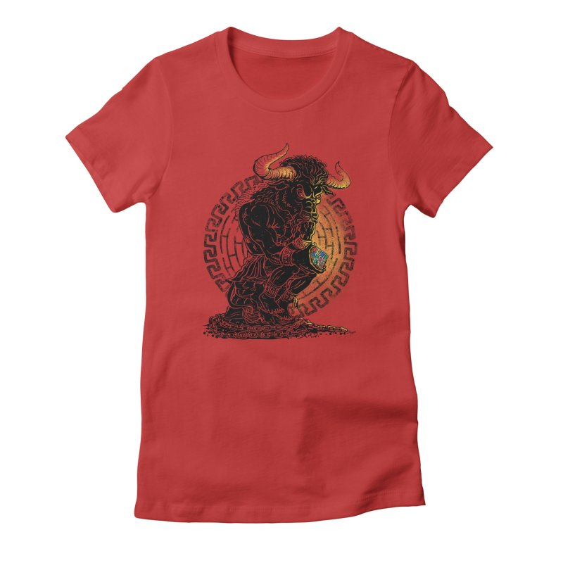 Minotaur Cube Women's Fitted T-Shirt by Mudge Studios