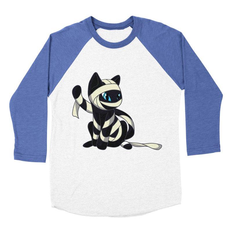 Mummy Cat Women's Baseball Triblend T-Shirt by Mukinata Designs