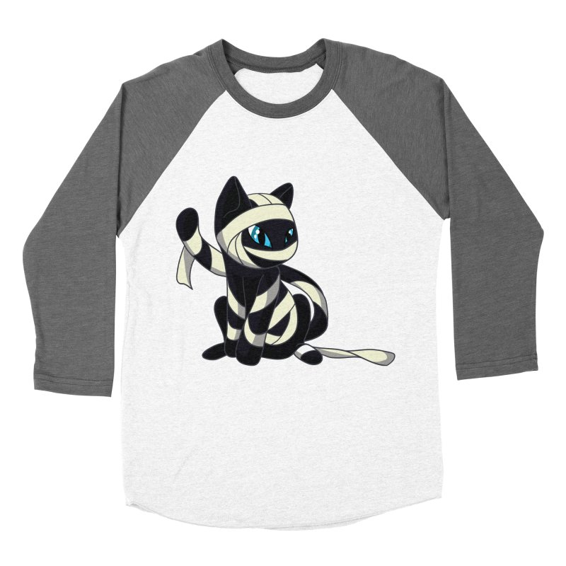 Mummy Cat Men's Baseball Triblend T-Shirt by Mukinata Designs