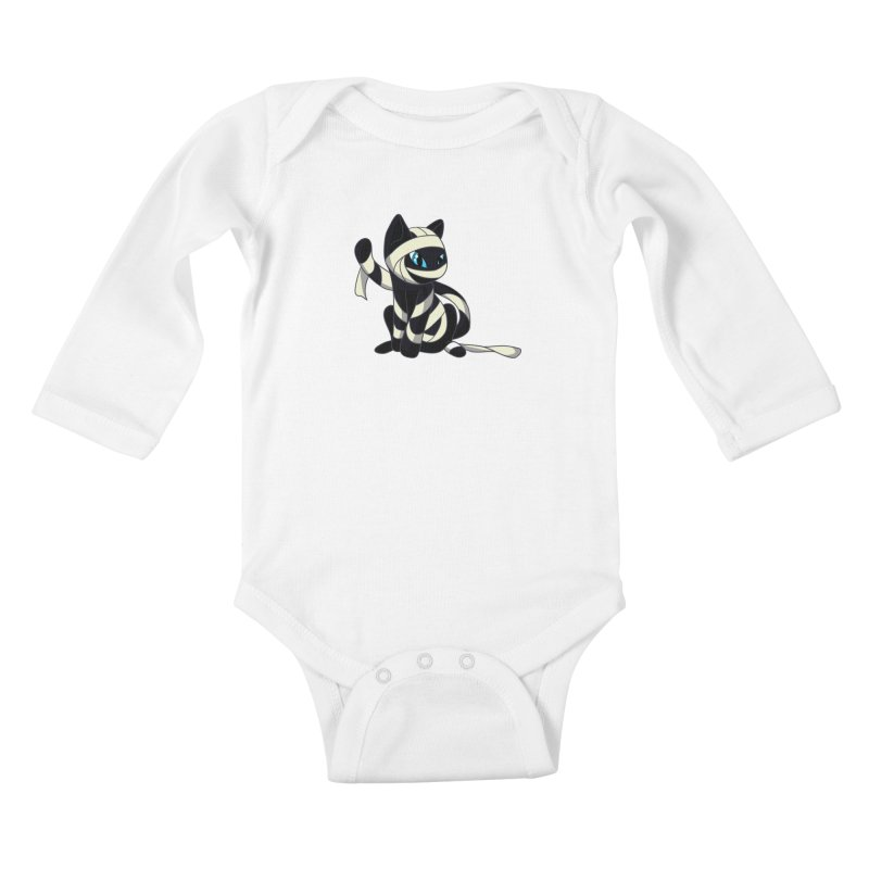 Mummy Cat Kids Baby Longsleeve Bodysuit by Mukinata Designs