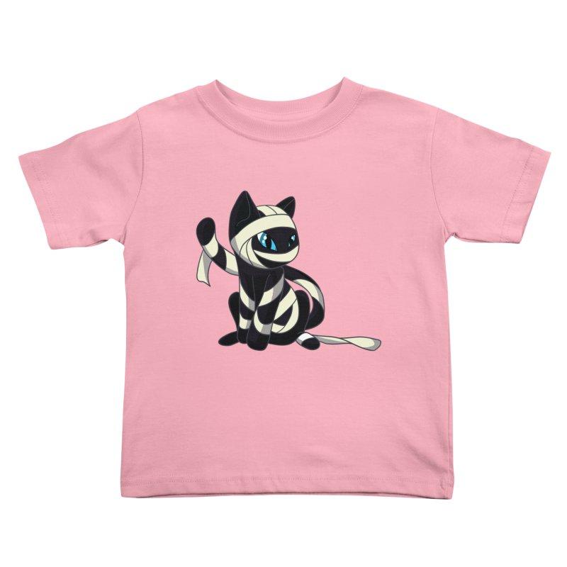 Mummy Cat Kids Toddler T-Shirt by Mukinata Designs