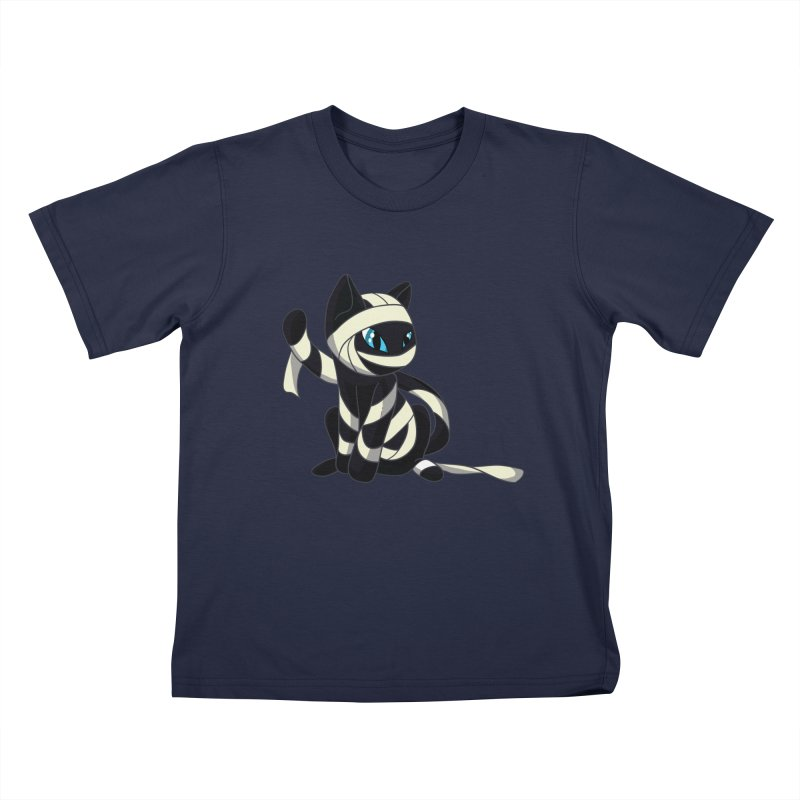 Mummy Cat Kids T-Shirt by Mukinata Designs