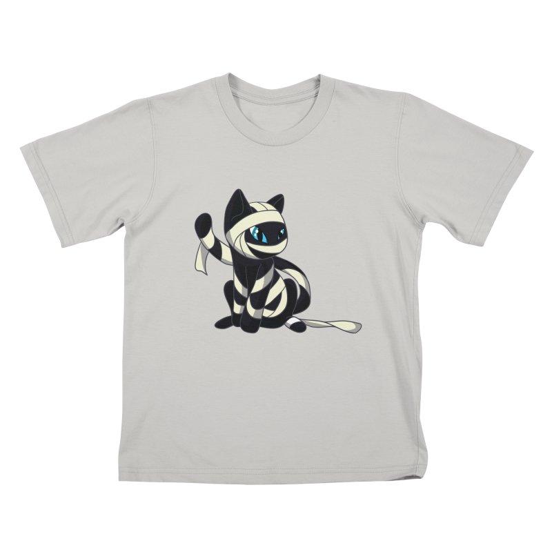 Mummy Cat Kids T-shirt by Mukinata Designs