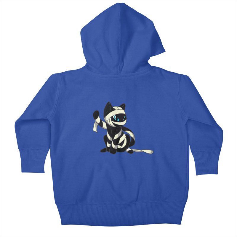Mummy Cat Kids Baby Zip-Up Hoody by Mukinata Designs