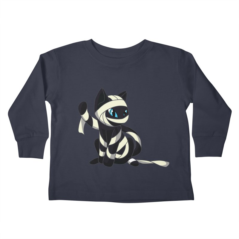 Mummy Cat Kids Toddler Longsleeve T-Shirt by Mukinata Designs