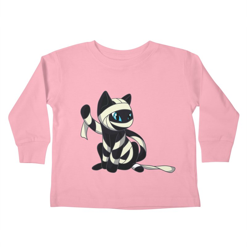 Mummy Cat Kids Toddler Longsleeve T-Shirt by Mukinata Designs