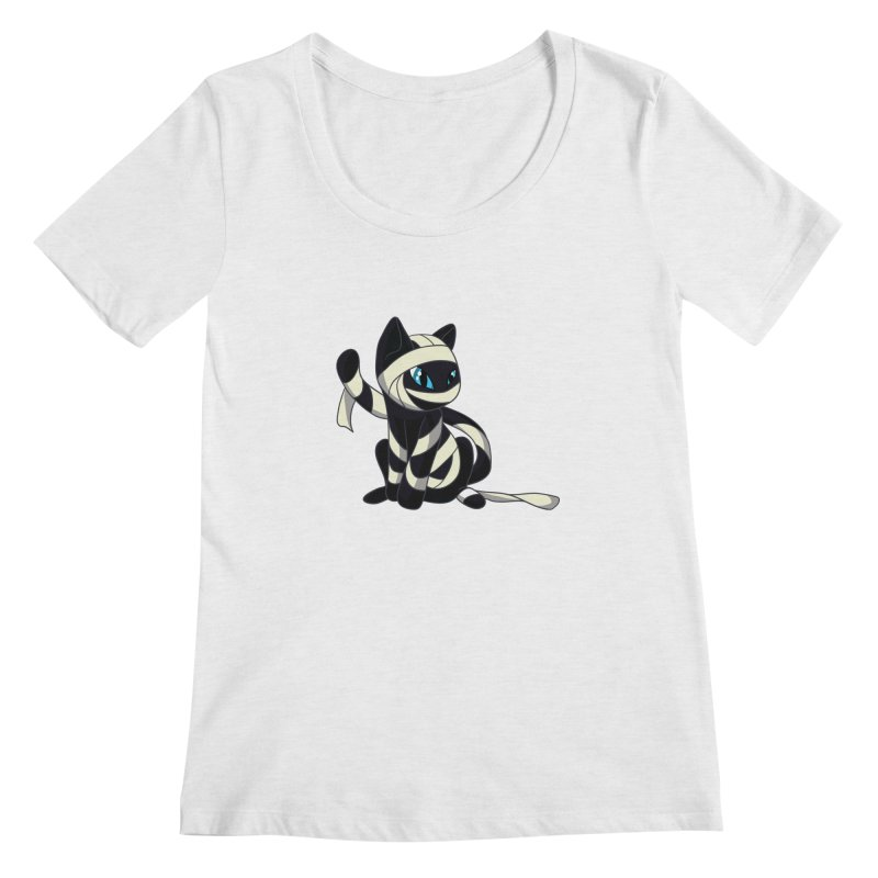 Mummy Cat Women's Scoopneck by Mukinata Designs