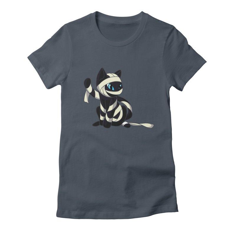 Mummy Cat Women's Fitted T-Shirt by Mukinata Designs