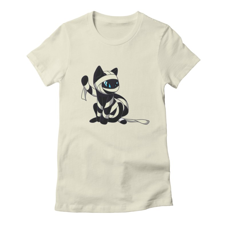 Mummy Cat Women's Fitted T-Shirt by Mukinata Designs