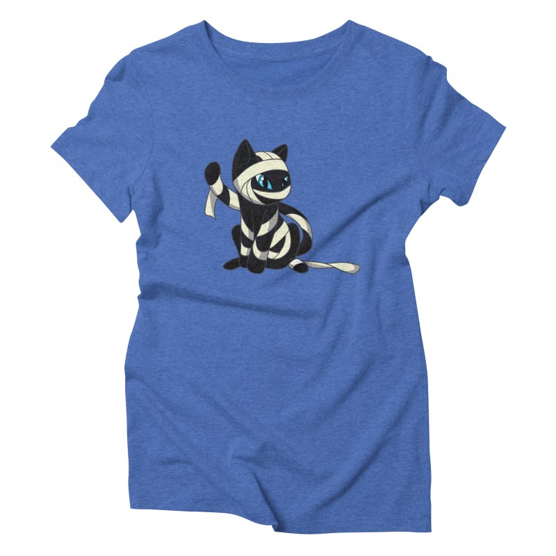 Mummy Cat Women's Triblend T-Shirt by Mukinata Designs