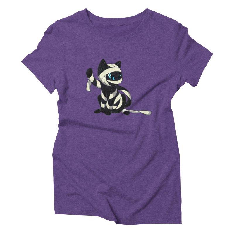 Mummy Cat Women's Triblend T-shirt by Mukinata Designs