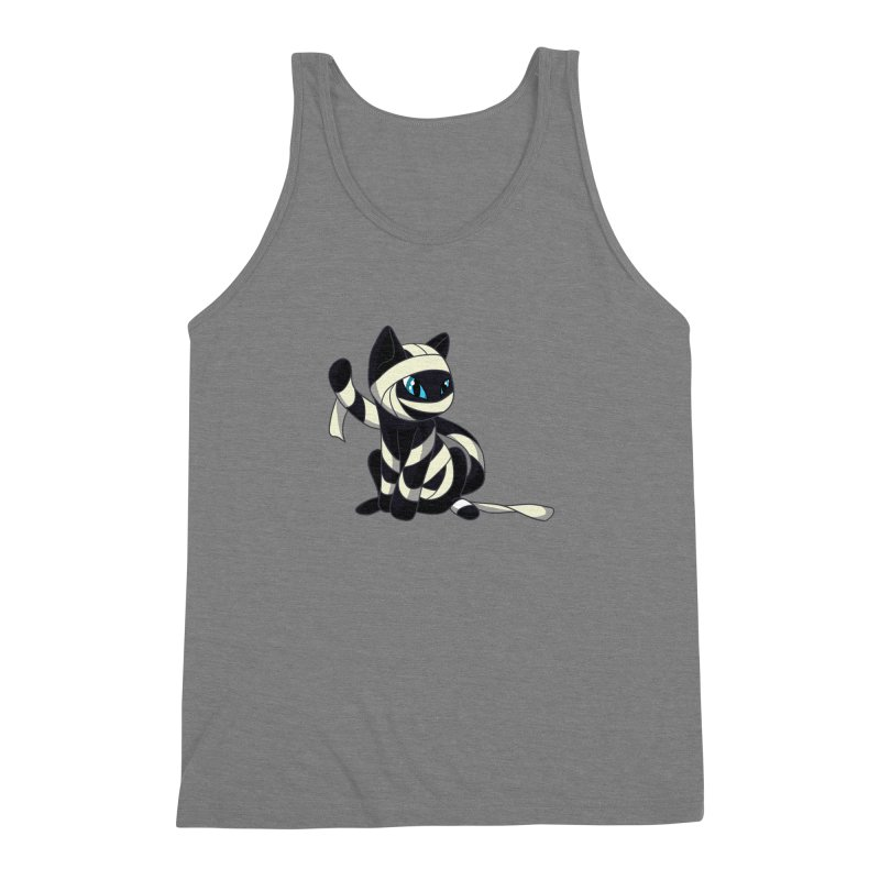 Mummy Cat Men's Triblend Tank by Mukinata Designs