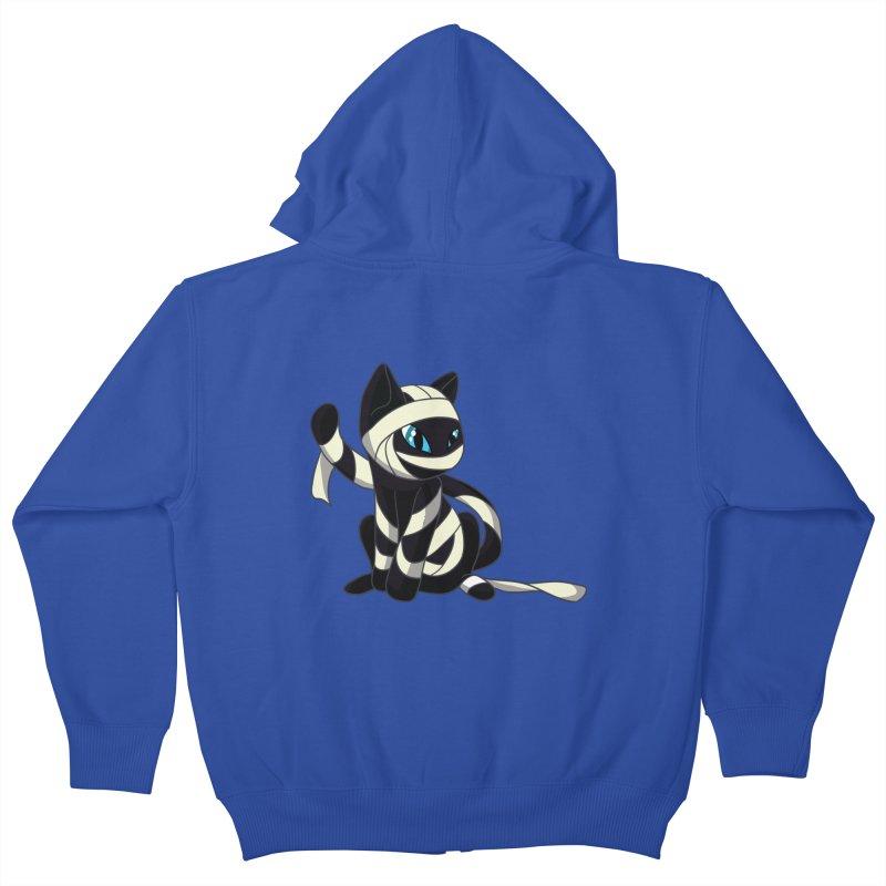 Mummy Cat Kids Zip-Up Hoody by Mukinata Designs