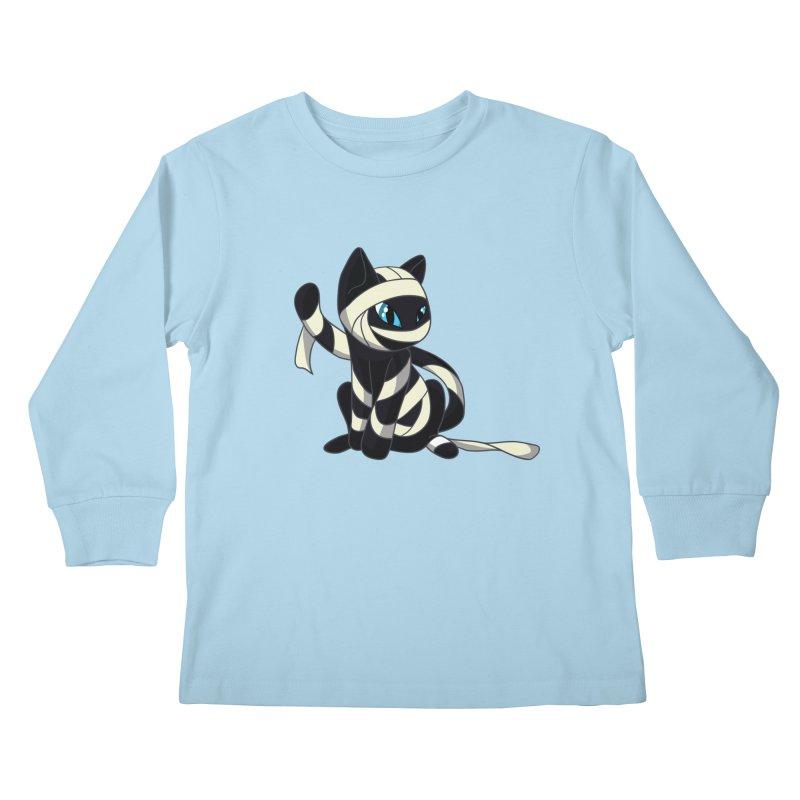 Mummy Cat Kids Longsleeve T-Shirt by Mukinata Designs