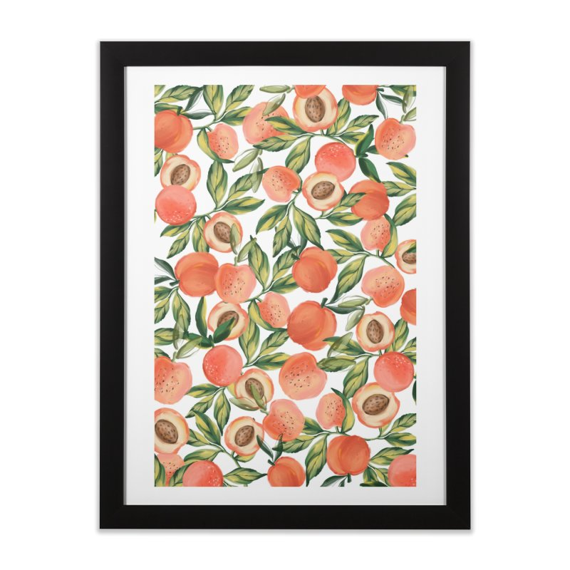 Peach Love Home Framed Fine Art Print by mukta lata barua's Artist Shop