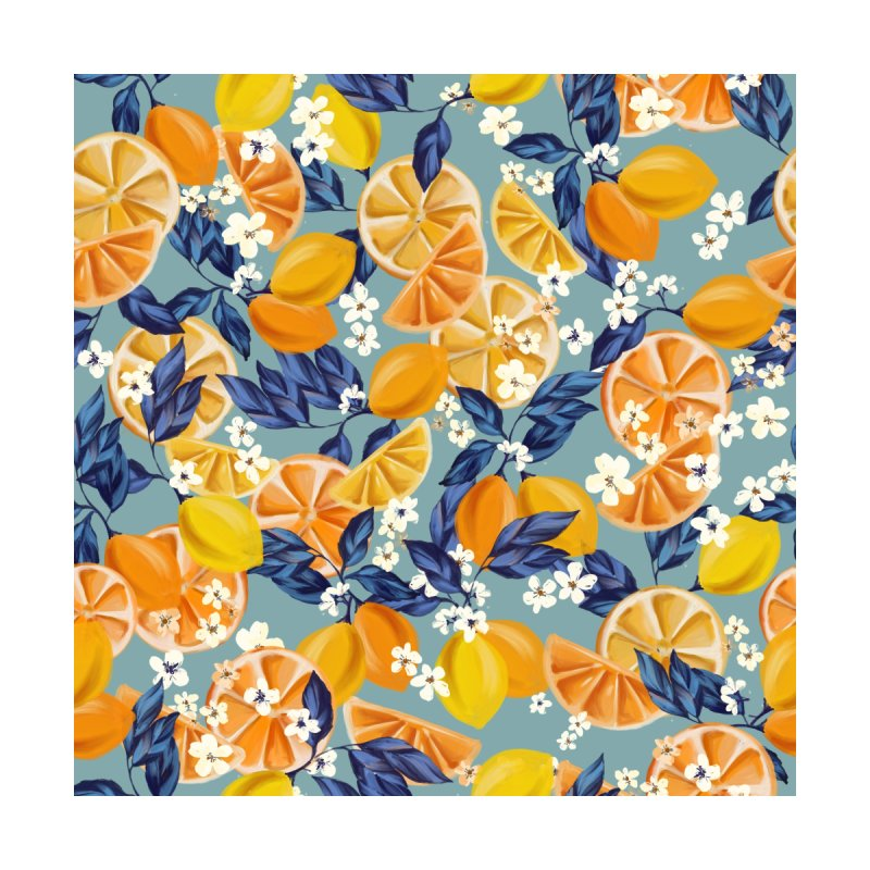 Lemon Crush Home Shower Curtain by mukta lata barua's Artist Shop