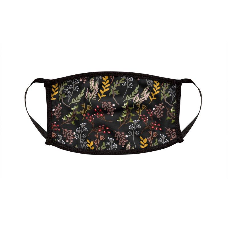 Floral Garden MB014 Accessories Face Mask by mukta lata barua's Artist Shop