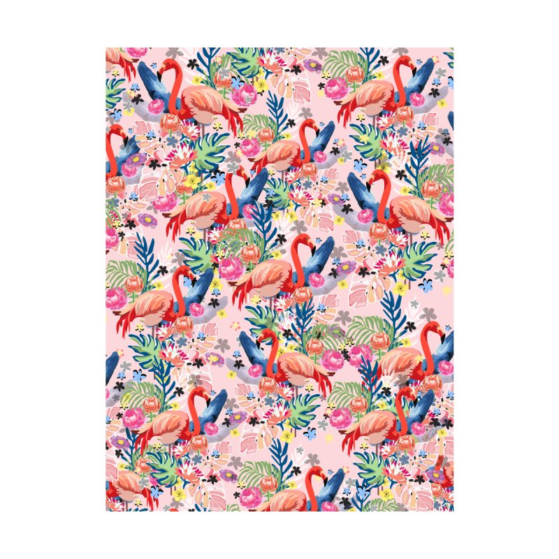 Flamingo Land pink Accessories Neck Gaiter by mukta lata barua's Artist Shop