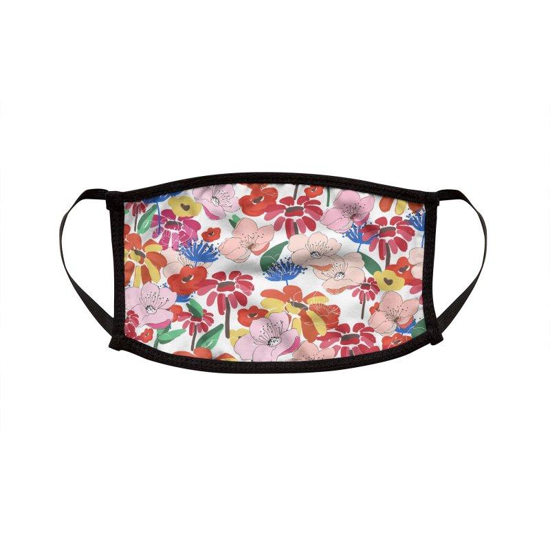 Summer Florals Accessories Face Mask by mukta lata barua's Artist Shop