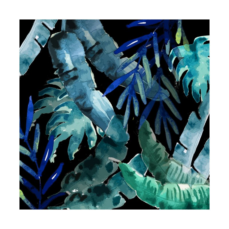 Tropical Mix black Home Rug by mukta lata barua's Artist Shop